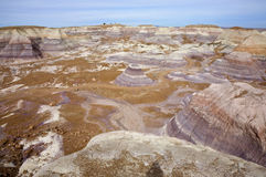 被绘的沙漠小山 库存照片