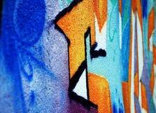 被绘的浪花墙壁 免版税库存照片