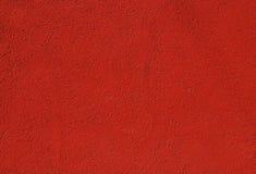 被绘的涂灰泥的红色墙壁 免版税图库摄影