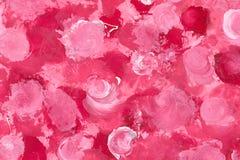 被绘的玫瑰 免版税库存图片