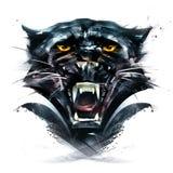 被绘的画象动物豹 库存例证