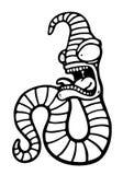 被绘的疯狂的蠕虫 图库摄影