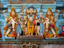 被绘的神印地安人 免版税库存图片