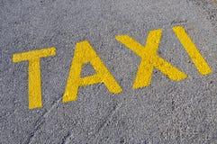 被绘的符号立场街道出租汽车 库存图片
