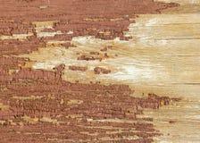 被绘的红色被风化的木头 库存图片