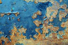 被绘的背景金属生锈了 免版税库存照片