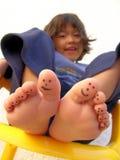被绘的脚趾 库存照片