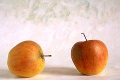 被绘的苹果背景 库存图片