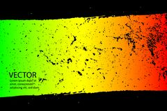被绘的被抓的纹理背景 EPS10例证雷鬼摇摆乐上色绿色,黄色,红色 皇族释放例证