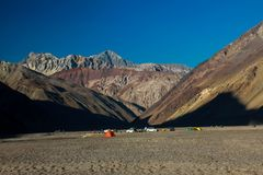 被绘的谷,智利 免版税库存照片