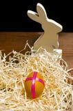 被绘的鸡在传统基督徒假日Easte怂恿 图库摄影