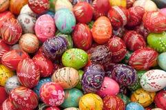 被绘的1复活节彩蛋 免版税库存图片