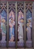 被绘的ely大教堂图标 免版税图库摄影