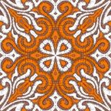 被绣的无缝的样式 纺织品的印刷品 手工制造 ora 免版税图库摄影