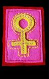 被绣的符号金星 库存照片