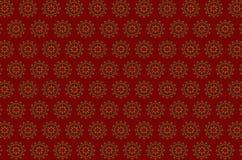 被绣的花圈无缝的伯根地背景的样式与风格化橙色花的 免版税库存照片