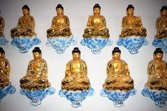 被编号的buddhas 库存图片