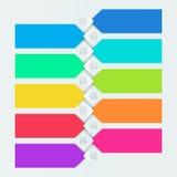被编号的Infographic五颜六色的横幅第1步到第10步 库存照片