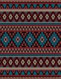 被编织的印地安地毯佩兹利装饰品无缝的样式 种族坛场印刷品 库存图片