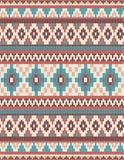 被编织的印地安地毯佩兹利装饰品无缝的样式 种族坛场印刷品 图库摄影