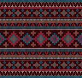 被编织的印地安地毯佩兹利装饰品无缝的样式 种族坛场印刷品 免版税图库摄影