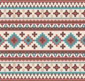 被编织的印地安地毯佩兹利装饰品无缝的样式 种族坛场印刷品 库存照片