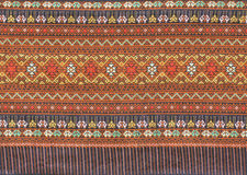 被编织的古老布料泰国 免版税库存图片