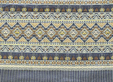 被编织的古老布料泰国 库存照片