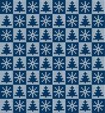 被编织的圣诞节和新年样式 免版税图库摄影