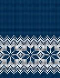 被编织的圣诞节和新年样式 图库摄影