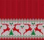被编织的圣诞节和新年样式 库存照片