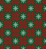 被编织的圣诞节和新年样式 库存图片