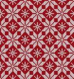 被编织的圣诞节和新年样式 免版税库存图片