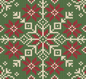 被编织的圣诞节背景。 北欧样式。 免版税库存图片