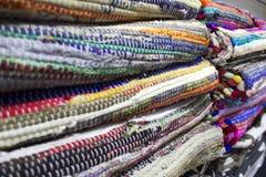 被编织的地毯 图库摄影