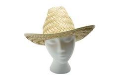 被编织的帽子秸杆 免版税库存图片