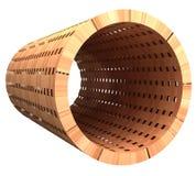 被编织的木头3d管  库存照片