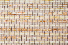 被编织的木面板 免版税库存照片