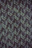 被编织的毛织物品蓝色的纹理 网站或移动设备的背景 库存照片
