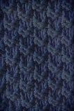 被编织的毛织物品蓝色的纹理 网站或移动设备的背景 免版税库存图片