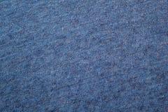 被编织的毛织物品蓝色的纹理 库存图片