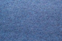 被编织的毛织物品蓝色的纹理 免版税库存图片