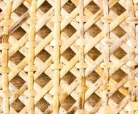 被编织的竹子。 免版税库存照片