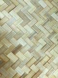被编织的竹子剥离纹理 免版税库存照片