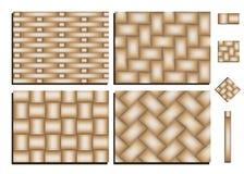 被编织的竹子的样式 库存例证
