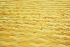 被编织的竹子 免版税库存照片