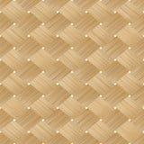 被编织的竹木无缝的纹理 库存例证