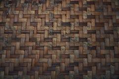 被编织的竹纹理 样式和纹理背景 免版税库存图片