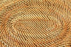 被编织的篮子卵形模式 库存图片
