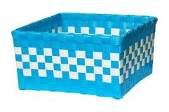 被编织的篮子塑料数据条 免版税库存照片